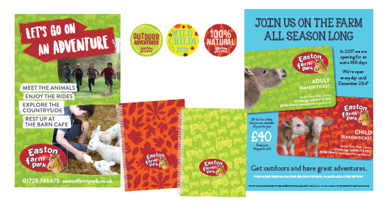 Corporate Identity Design for Easton Farm Park