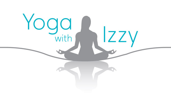 Yoga with Izzy logo design