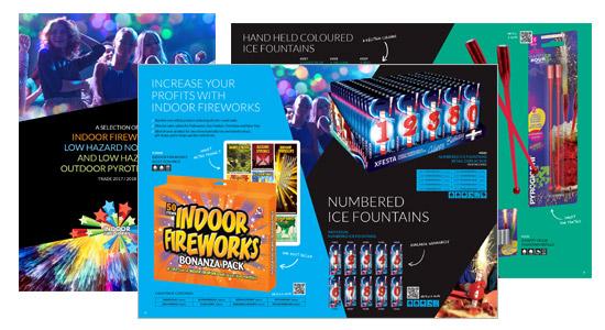Indoor Fireworks Corporate Brochure Design