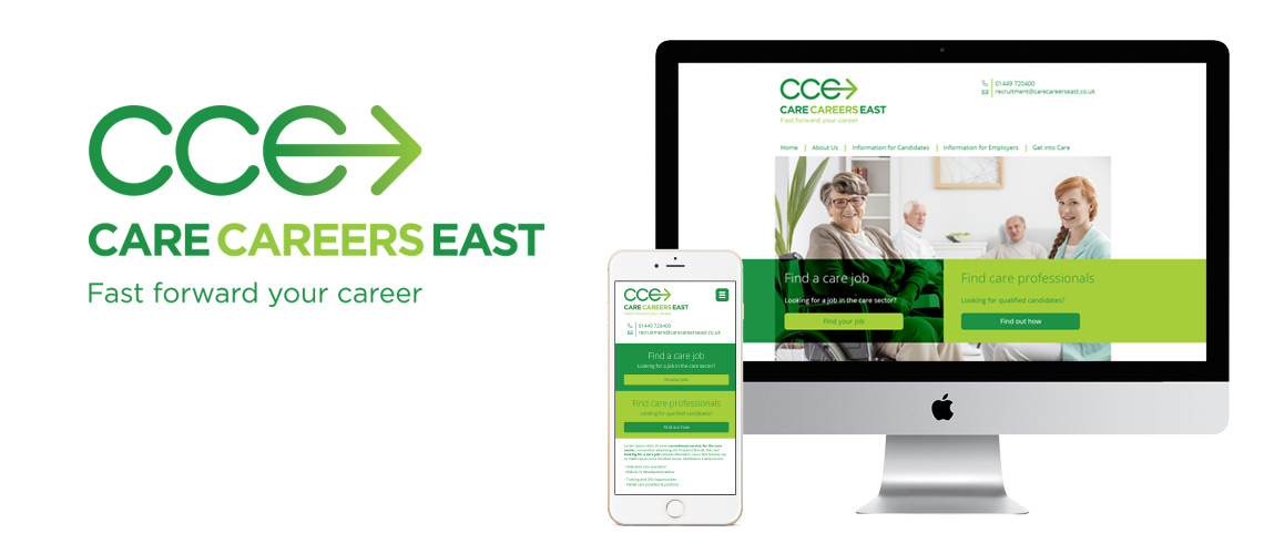 Care Careers East logo design and website development