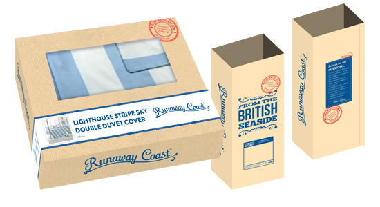 Packaging box and sack design