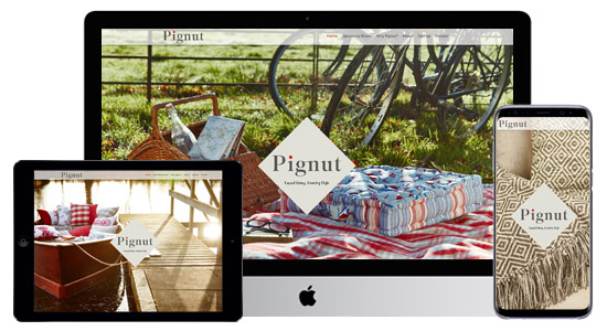 Pignut Website Design