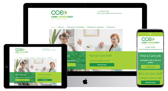 Website design for the care sector