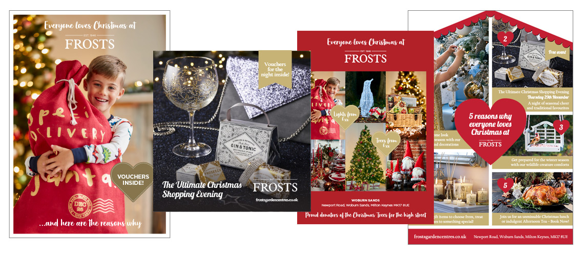 Christmas leaflet designs