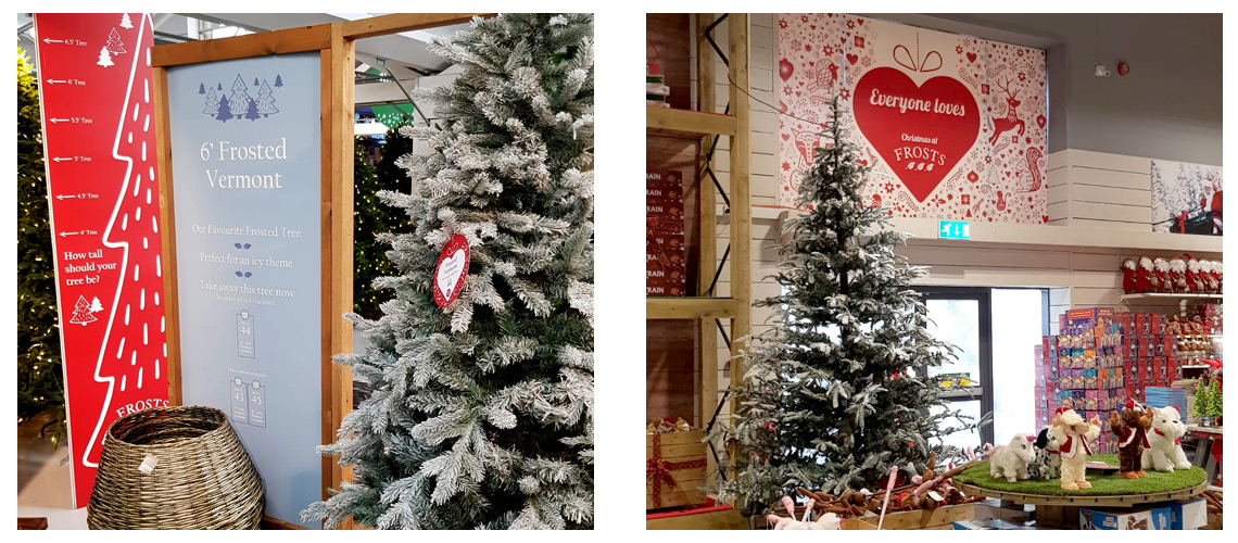 Frosts Christmas POS display designs