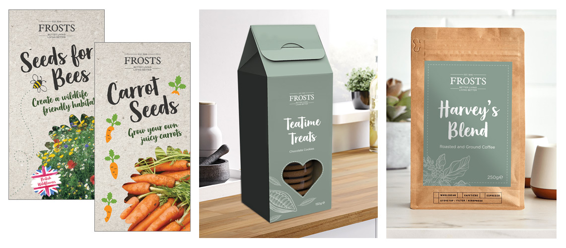 Brand product packaging