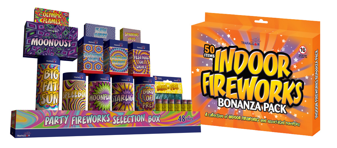 Outdoor and Indoor Fireworks Packaging Design Project