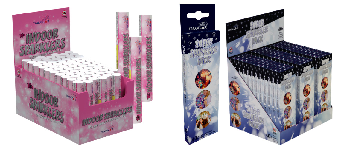 Indoor and outdoor small sparkler packaging