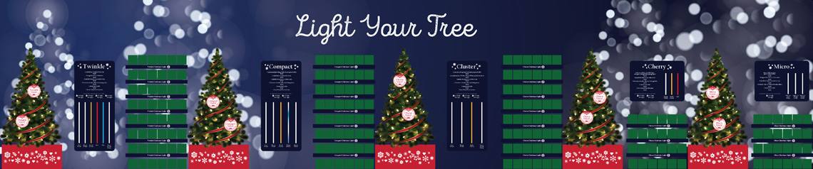 Christmas Tree Light Display Point of Sale