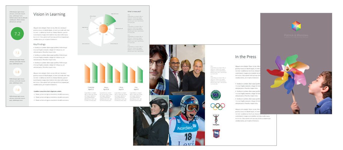 Patrick and Menzies Annual Report Design