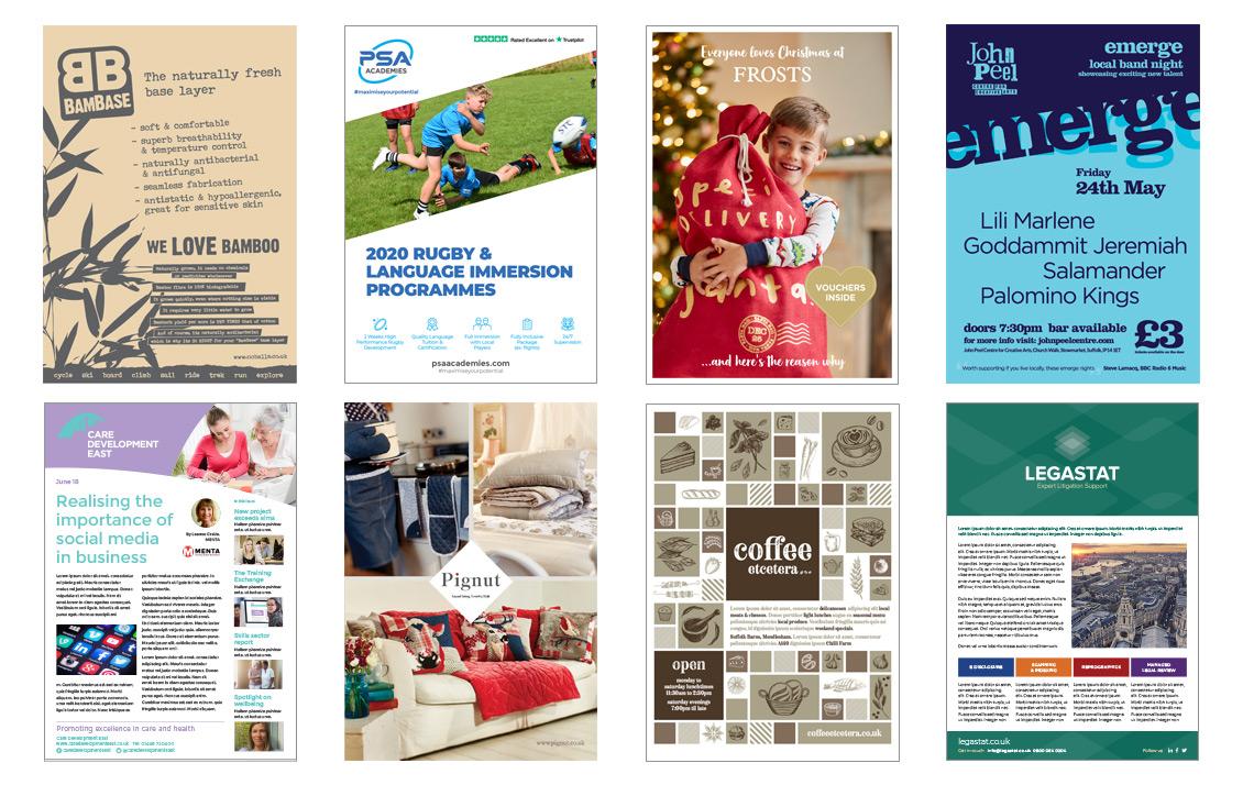 A5 leaflet design suffolk