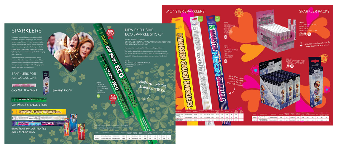 Eco Sparkle Stick Brochure Spread