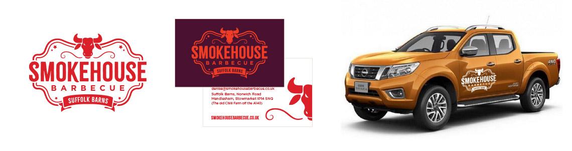 Smokehouse logo design mockups