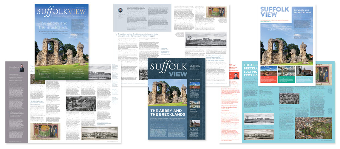 Suffolk Magazine Designs